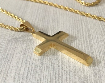 9a978582310c Gold cross necklace for men