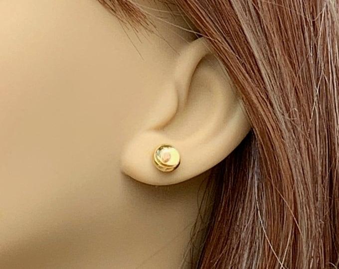 Gold stud mustard seed pierced earrings for her, Faith of a mustard seed gold  stud earrings, Matthew 17 20