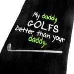 Men Golf towel, daddy golf gift, personalized golf, dad uncle gift, papa grampa, pop pop, other name choice, funny embroidered, golfer towel