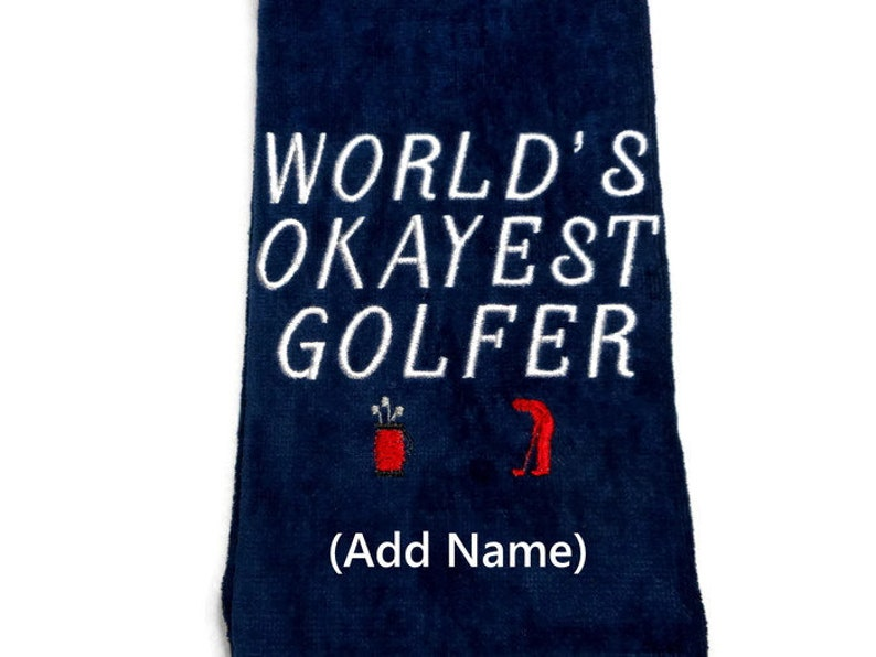 golf towel gift for him personalize golf World's image 0