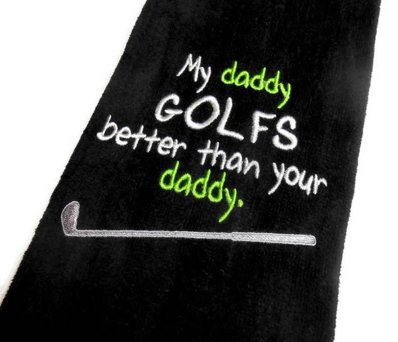 Men Golf towel daddy golf gift personalized golf dad uncle image 0