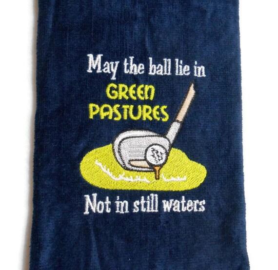 Golf Towel Golfers Prayer Gift For Him Golfer Gift Funny