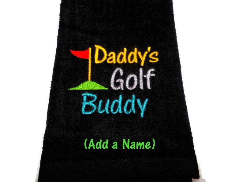 golf towel children's towel Daddy's Golf Buddy image 0