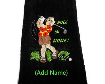 Golf towel, mens golf gift, personalized golf, gift for him, personalised gift, funny golf him, embroidered towel, custom colors, Father's
