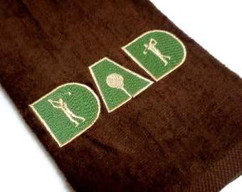 golf towel, gift for him, golf towel Dad, embroidered golf, personalize gift, golfer gift, birthday dad, golf gift for dad, Father's Day