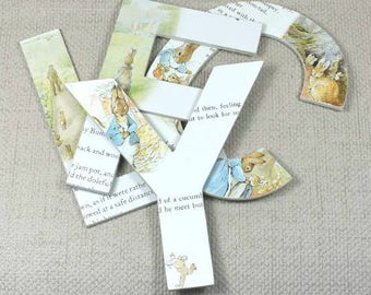 Peter Rabbit/Beatrix Potter Wall Letters, Buy 2 Get 3rd Free! Hand painted, Free Gift Wrapping