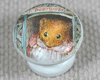 Drawer or Dresser Knobs, Peter Rabbit, Flopsy Bunny or Beatrix Potter Mix available.