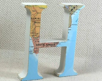 World Map Letters, Wooden Letters, Map Travel Gift, Map Letters, Housewarming Gift, Travel Gifts, Choose your location! Free Gift Wrapping!