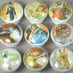 Peter Rabbit & Friends Wooden Drawer Knobs, Handpainted 3.5mm Dia
