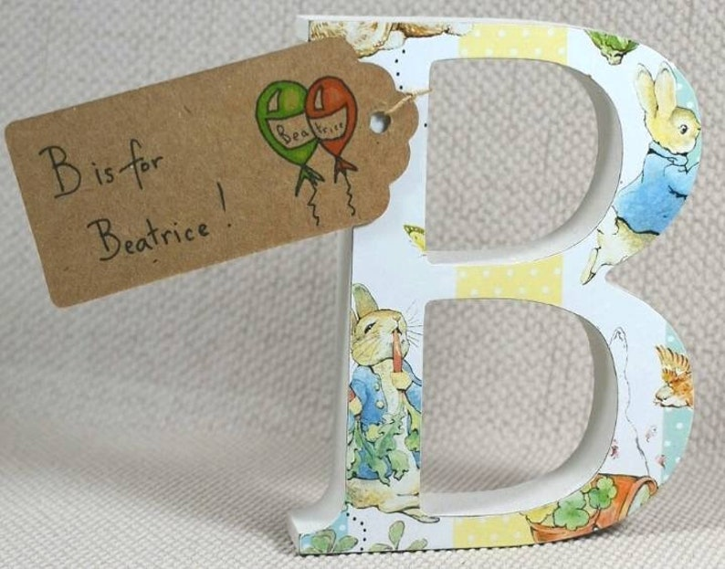 Peter Rabbit Beatrix Potter Nursery Letters Free Gift Wrapping And