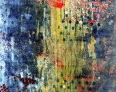 Pandemonium, rectangular monoprint, abstract, one-of-a-kind