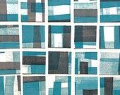 Cool Jazz, monoprint, geometric, abstract, collage, squares