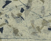 """Abstract etching """"Flotsam"""", abstract etching with chine colle, abstract etching"""