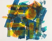 What Day Is It?, silkscreen, abstract, multiple colors, layered colors, stencil silkscreen