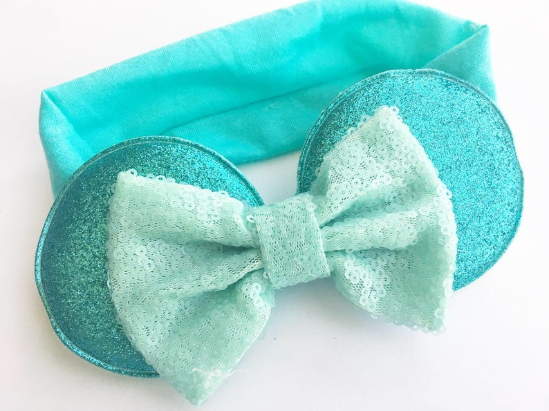 Aqua Minnie inspired Baby Mouse Ears