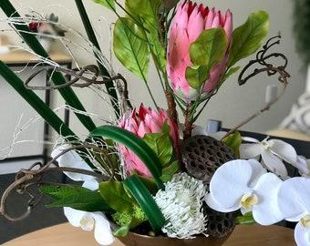 Tropical Escape Large Flower Arrangement - Faux Flowers