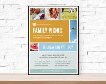 church picnic flyer etsy