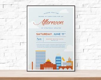 diy printable event flyer template formal gala invitation etsy