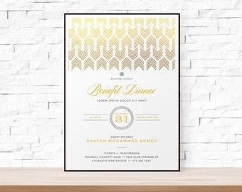 benefit dinner flyer template