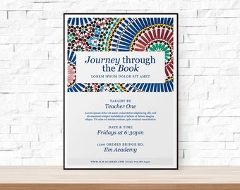 DIY Printable Geometric Event Template Flyer for School, Church, Mosques
