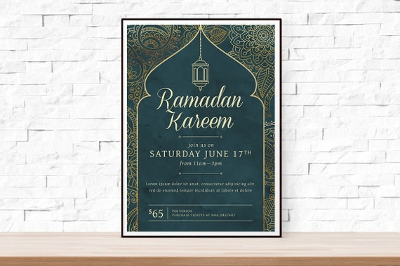 DIY Printable Ramadan Event Flyer Template Word