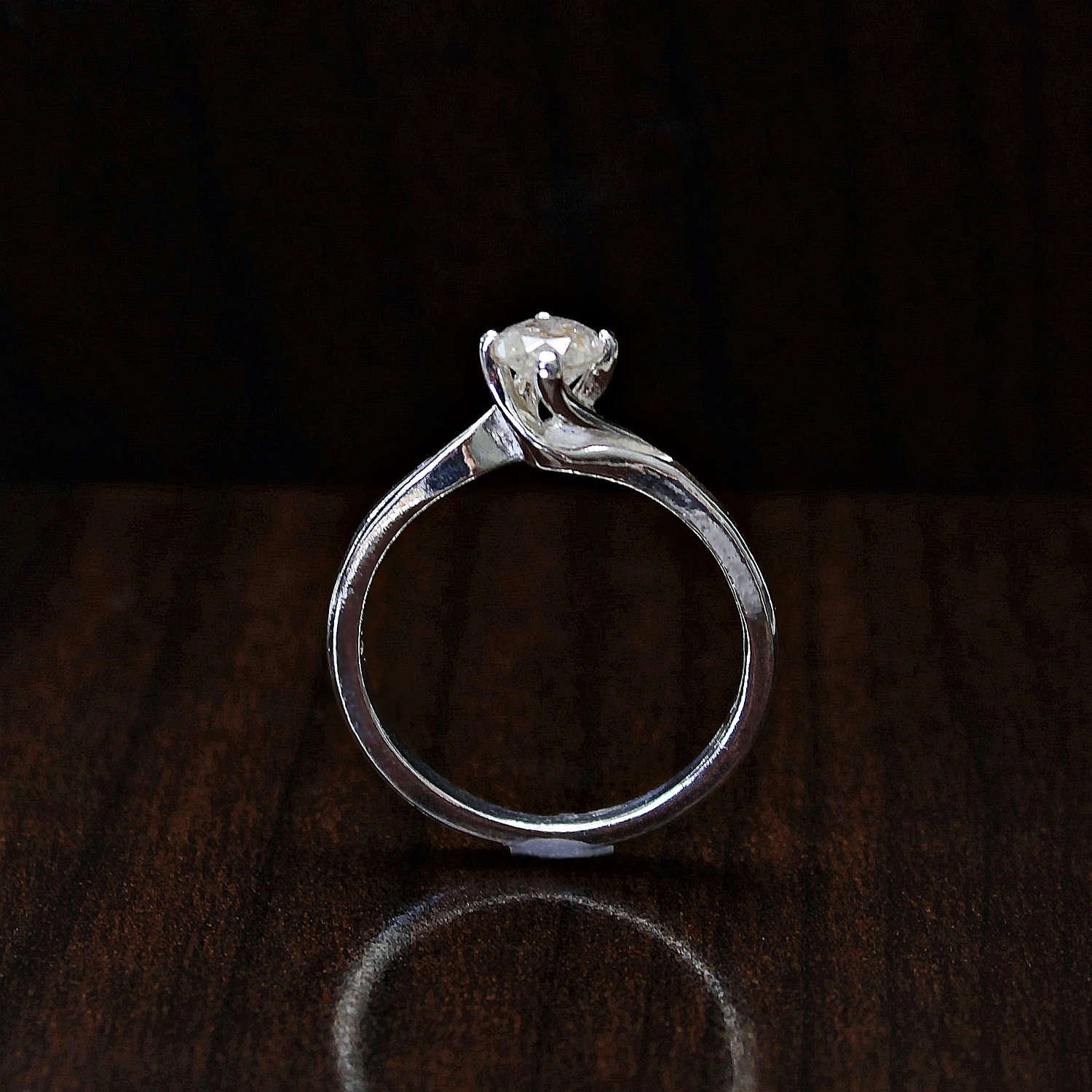 Rustic Diamond: 14k Gold Champagne Color Diamond Ring Genuine Rustic