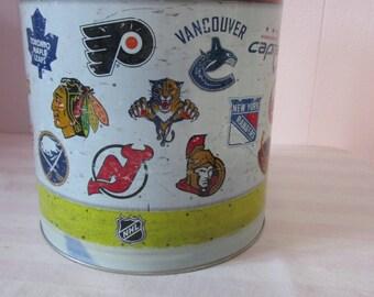 Vintage National Hockey League box / Box metal National Hockey League
