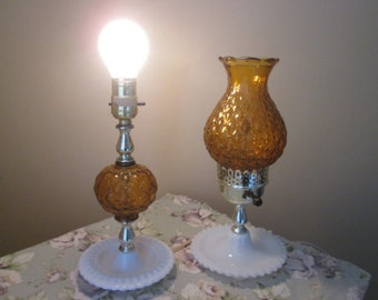 Vintage 2 lamps amber / Vintage 2 lamps amber