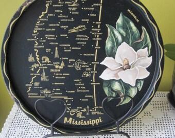 Vintage Mississippi tray / Vintage Tray the Mississippi
