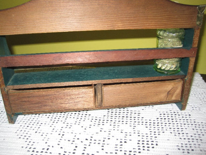 Vintage Shelf with Spices