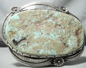 One Of Biggest Vintage Native American Navajo Royston Turquoise Sterling Silver Buckle Ever Made - Make An Offer