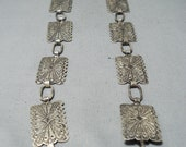 Detailed Vintage Native American Navajo Sterling Silver Intricate Concho Belt Old - Make An Offer
