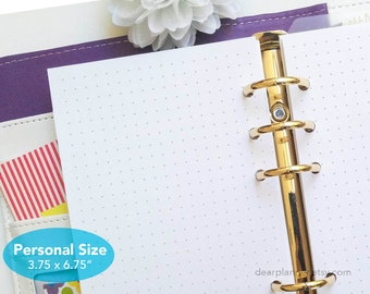 PRINTED Dotted planner inserts - Dot grid planner page - 5mm dot grid paper - PERSONAL planner insert 3.7x6.7 - P17