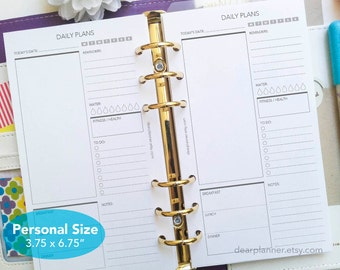 PRINTED day on one page - Daily planner insert - Printed do1p planner insert - Personal size insert - Printed personal inserts - P06