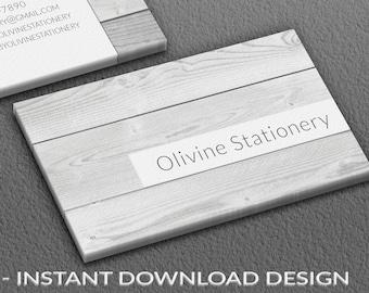 Sofortiger Download Visitenkarten Vorlage Diy Platz Etsy