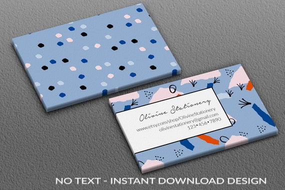 Instant Download Template Business Cards Diy Square Business Card Template Watercolor Photoshop Vista Printing Illustrated Pattern