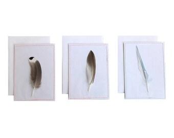 Veertjes I Set van 3 I Mini Ansichtkaart/Postcard
