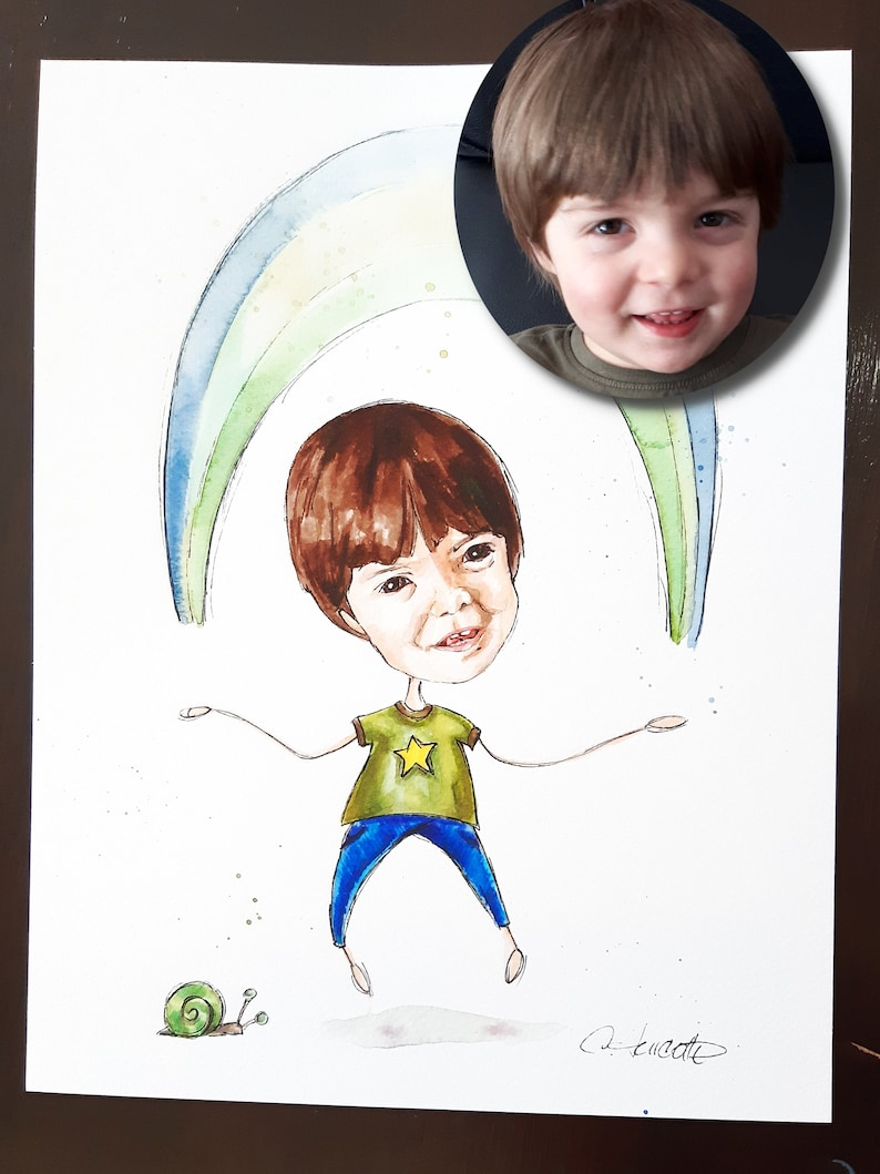 child 8.5x11 custom ultrasound to frame, rainbow it/'s going to be fine baby personalized watercolor Playful portrait