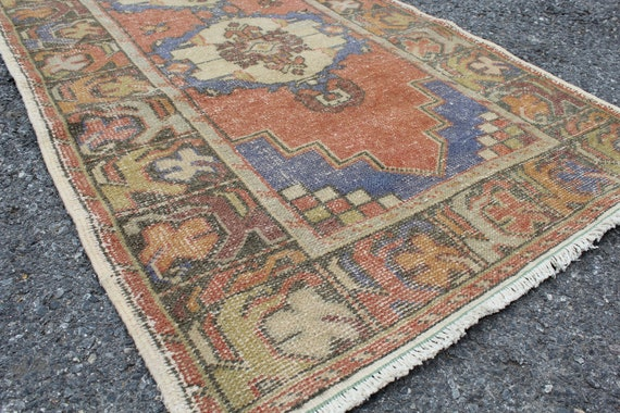 Runner Rug Vintage Turkish Handmade Hallway Bohemian Oushak  1aea2dcdb