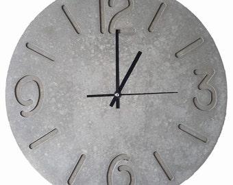 Custom Wall Clock (600mm). Konkrete Uhr. Horloge en béton. Reloj de hormigón made to any size or design you can think of.