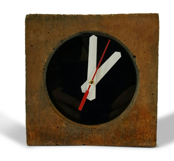 Mantle Clock Bedside Clock Office Clock Industrial Decor Etsy