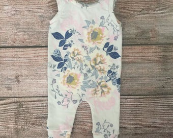 80b9c7742 Baby romper / toddler romper / girls romper / romper / floral romper /  summer romper / first birthday romper / first birthday outfit