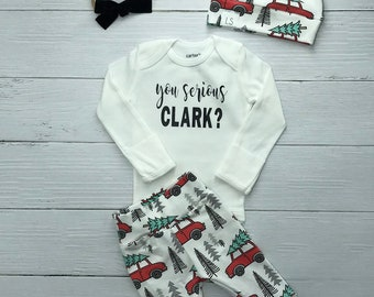 You serious Clark   Christmas outfit   Christmas vacation leggings    Christmas outfit   baby outfit   hospital outfit   unisex legging 6956acf62
