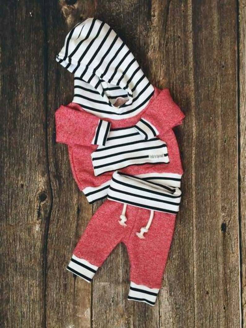 Red Baby Jogger Set Toddler Jogger Set Jogger Hoodie Red Hoodie Going Home Outfit Baby Gift Newborn Picture Outfit Joggers