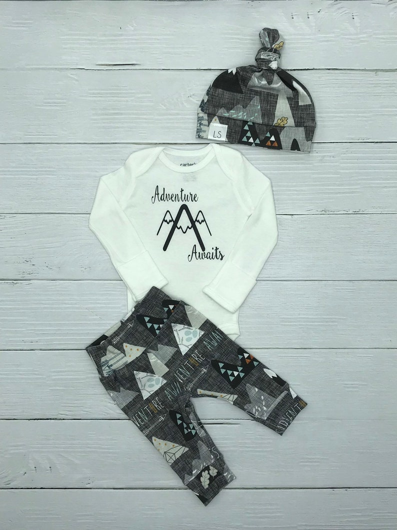 379412d26 Newborn outfit / adventure awaits outfit / baby outfit / | Etsy