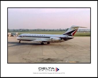 Delta Air Lines Douglas DC-9-32 Photo 11x14 (C126LGSP11X14)