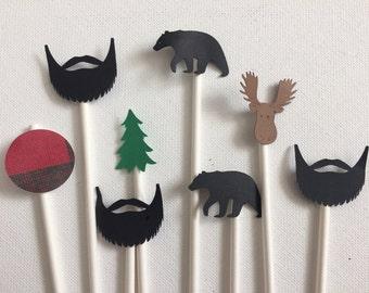 Lumberjack stir sticks , coffee , cocoa , mimosa bar