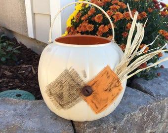 Scarecrow Costume Halloween Candy Bucket