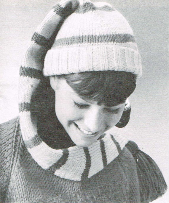 362ad0c7ed7500 Vintage knitting pattern Long stocking cap PDF knitting   Etsy