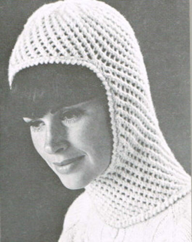 3496332b3 Vintage knitting pattern - Eyelet hood - PDF knitting pattern - Knitting  patterns for women - retro 60's